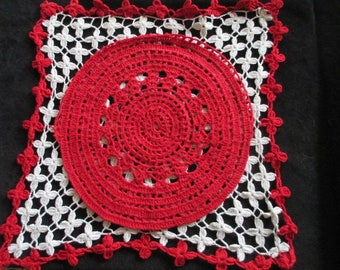 Set of Two Vintage Hand Crochet Doilies
