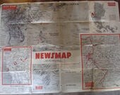 1945 Newsmap For The Armed Forces 279th Week of the War