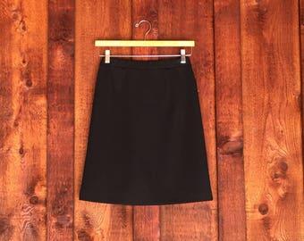 Vintage Basic Black Pencil Skirt • Vintage Graff Skirt