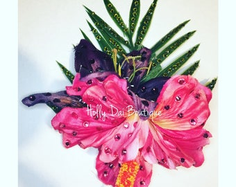 Tiki Tropical Hibiscus Hair Flower