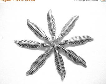 75% OFF - 20pcs Thin Silver Feather Charms - Wholesale Boho Charm - Small Leaf Pendants - Tribal Nature Charms - Bohemian Supplies E38