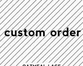 custom FULL apron