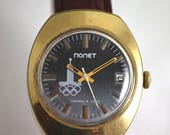 POLJOT Vintage Rare SERViCED watch GoLD Plated Case Au 20 Art Deco Dial Olympic Games made in USSR