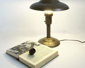Perfect Art Deco Style Mushroom Table Lamp, Desk Lamp, Library Lamp