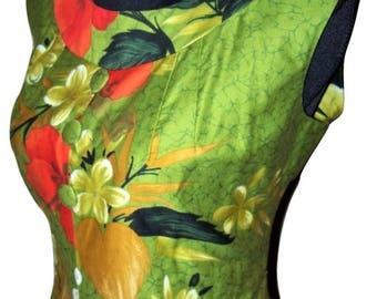 Vintage Hawaiian Fashion Cotton Maxi Dress Sz L