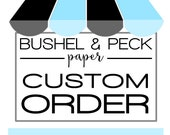 Custom Order for Mitzi