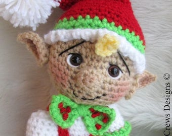 Summer Sale Crochet Pattern Cute Elf by Teri Crews Wool and Whims Instant Download PDF Format