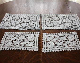 Antique Lace Doilies Table Mats - 4 - 1930s