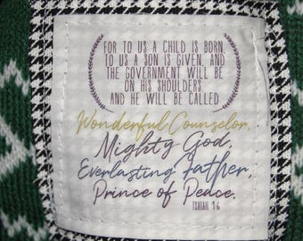 Scripture Scarf - Christmas Green