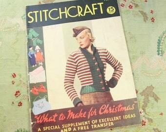 Vintage Stitchcraft 1930s knitting book catalog pattern ladies 30s 40s 1937 issue november 1937 no. 63 home journal