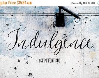 Digital Fonts 80% Off SALE Indulgence Script Font, Hand drawn Wedding Font, modern Calligraphy, Hand Written font, brush font