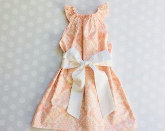 Blush Pink Dress - Baby Girl Dress - Girls Dresses - Sleeveless Dress - Easter Dress - Spring Dresses - Girls Dress - Handmade Dresses