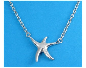 Sterling Silver Dancing Starfish Pendant Necklace