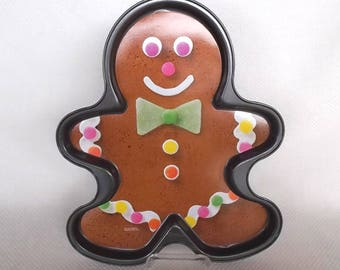 Vintage Wilton Gingerbread Boy Pan New and Unused Gingerbread Man Shaped Cookie Sheet Pan Only from Kit Giant Ginger Bread Cookie Pan