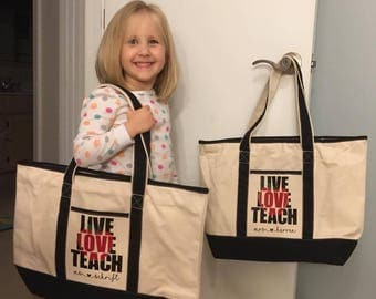 Fast Shipping! Personalized Teacher Tote Bag