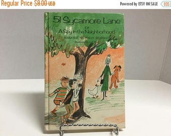 Sale Vintage 51 Sycamore Lane A Spy in the Neighborhood Hardcover Book 1971 Weekly Reader Children's Book Club