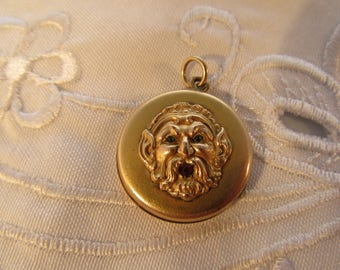 Antique Face Locket or Watch Fob