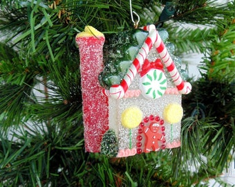 Hallmark Ornament. Sugarplum Cottage. Hallmark Cottage. Gumdrop House. Lighted Ornament. CHRISTMAS Ornament. Hallmark light cover. 1980s
