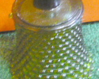 New Listing - Home Interior Votive Cup - Med. Green Hobnail - Price Is For 1