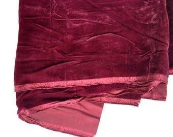"Velvet Type Fabric – Royal Red – 47"" wide x 68"" long"