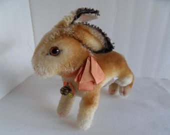 Steiff rabbit all Ids mohair large made in Germany  423