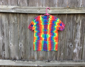 Kids medium DNA rainbow tie dyed tshirt