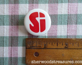 Si Equal Rights Amendment Vote Yes  ERA Women's Rights Massachusetts Cause Button  Feminist Choice Vintage Orig 70's  Pinback