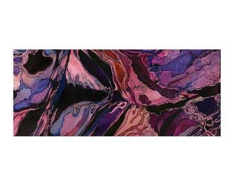 Purple abstract watercolor print, small modern wall art, Amaranthine Chaos