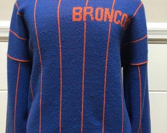 Vintage Cliff Engle Broncos Sweater