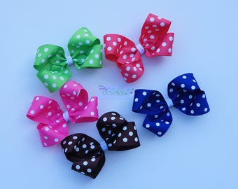 "5"" Polka Dot Boutique bow you PICK color!"