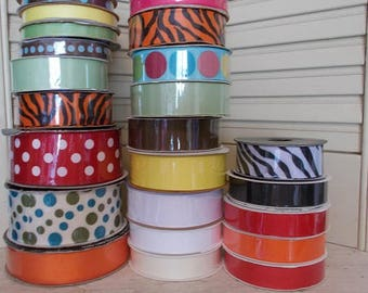 Lot of Grosgrain Ribbon (24 rolls)