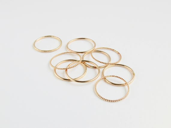 Layering Rings | Simple Gold Ring | Gold Ring | Stacking Rings | Minimalist Ring | Layered Ring | Dainty Ring | Christmas Gift | Gift Ideas