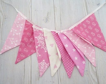 Fabric banner , pink banner , pink lags