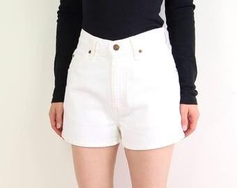 VINTAGE White Denim Shorts Levis Jeans Short