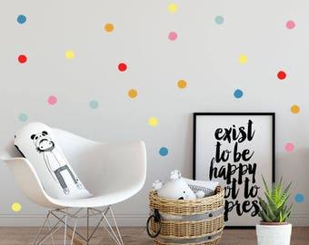 Nursery Wall Decals, Polka dots, Baby room decals, Nursery Wall Decal, Kids Wall Decal, Modern Nursery Wall Decal, Children room art decor