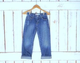 Kids/childrens straight leg Levis 514 faded/distressed blue denim jeans/Levi Strauss jeans/8 regular