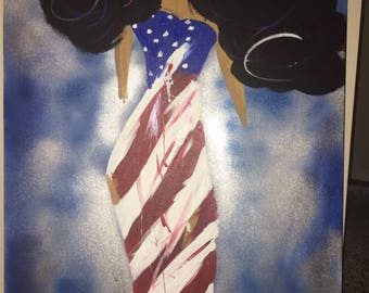 The Tattered Definition of Freedom - Original Painting