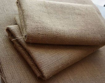 3 x Natural Jute Fabric Sheets 50x70cm ~ rustic/vintage/cottage chic ~ DIY *craft *floral *gifts