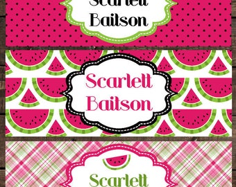 School Waterproof Labels, Waterproof Stickers, Name Label, Dishwasher Safe Daycare Labels, School Labels, Watermelon Labels, Girl Labels