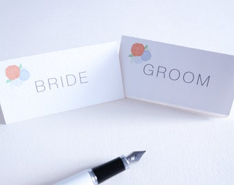 Bespoke Wedding Place Cards - Holly Collection