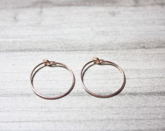 Rose Gold Filled Hoops, Endless Hoops, Ready to Ship