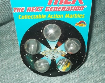 Vintage 1993 Star Trek Next Generation Collectable Action Marbles-Spectra Star-FREE Shipping!