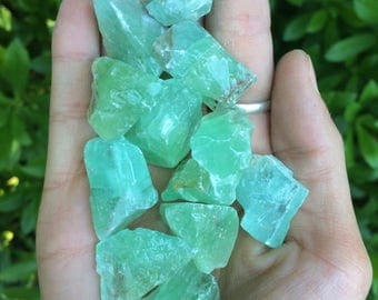 Green Calcite Crystal