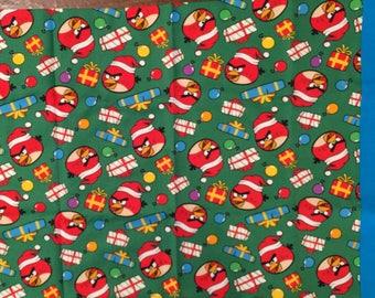 Angry Bird Christmas travel pillow case/toddler pillow case 100% cotton