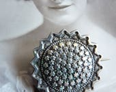 Antique Victorian Sterling Silver Stars Brooch
