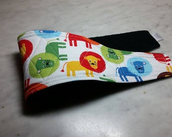 Belly Band Waist 13.25 x Width 4.00 inches Male Dog Belly Band Wrap Diaper Belt by SewDog 3 Layers Quilted Padded #042 LIONS