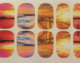 Sunset Beach Nail Wraps