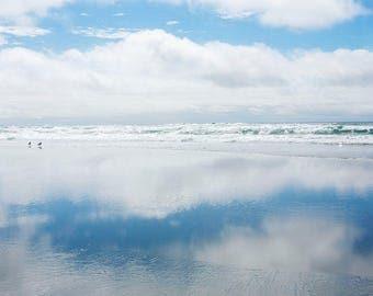 Two Skies - Fine Art Photograph, Ocean, Beach, Sea, Oregon, Travel Photography, Wall Art, Room Decor