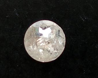 ON SALE 55% 5mm White Rose Cut Diamond, White Tamboli Rose Cut Diamond, Loose White Diamond, Faceted Diamond Cabochon - DS3742