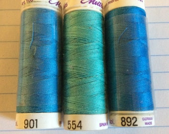 SALE three spools thread ,Mettler Silk finish, item 22